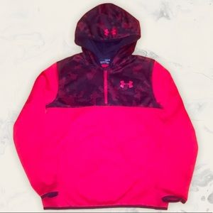Under Armour Red Camo Pullover Sweatshirt Hoodie L